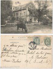 CPA Seyes 1904 postcard mill boeuf le Moulin Château d'OSNY 95 Val d'Oise 542 A
