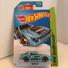Hot Wheels - 2015 - Mazda RX-7 light blue Kmart exclusive JDM