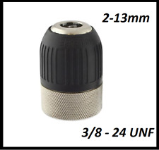 2 - 13MM  Keyless Drill Chuck 3/8 - 24 UNF QUICK CHANGE HIGH QUALITY 3/8""