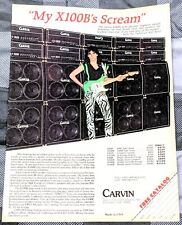 Steve Vai / David Lee Roth Band / 1980'S Carvin Guitar Amps Magazine Print Ad