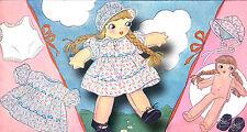 """Vintage Nancy Cloth Stuffed Doll Pattern ~ 16"""" tall"""