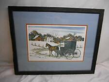 Artist DON FUSCO AMISH LANDSCAPE  Numbered Framed PRINT  Painting Hopedale Ohio