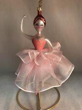 Soffieria De Carlini Pink Ballerina Blown Glass Ornament