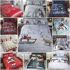 Christmas Xmas Theme Duvet Quilt Cover Bedding Sets - Single, Double & King Size