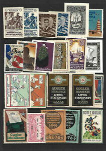 SHEET OF MIXED CINDERELLA/POSTER STAMPS - CONDITIONS VARY AS USUAL.