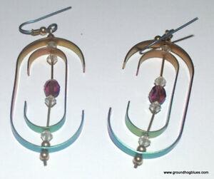 Large Artist Made Titanium Kinetic Earrings NWOT ARt to Wear
