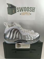 Nike Women's Air Foamposite One Chrome White AA3963-100 Size 8.5 W