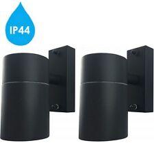 2x Hispec Modern Black Down LED Wall Light GU10 Lamp IP44 Outdoor Waterproof