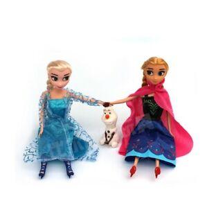 Frozen Eiskönigin Puppe Elsa Anna Kristallzauber Figur 30cm  Mädchen Geschenk
