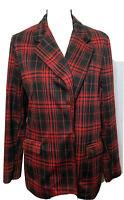 Wild Fable Women's Buffalo Plaid Check LS Oversized Blazer Open Front  Size M