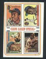 1974 Topps #2 Hank Aaron NM/NM+ Braves 1954-57 78378