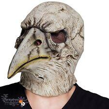 Halloween Calavera Eagle Crow Pájaro Medieval Negro Máscara de Látex Scary película de TV de la muerte