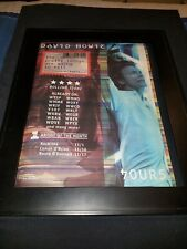 David Bowie The Pretty Things Are Rare Original Radio Promo Poster Ad Framed!