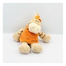 Doudou zébre Zamba beige orange NOUKIE'S 26 cm - Cheval - Ane - Zèbre Classique