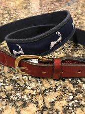 Chatham T Company Cape Cod Belt Size Medium Leather And Canvas