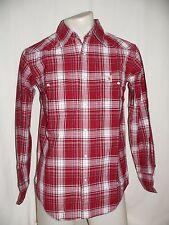 CARHARTT Langarm Freizeithemd Hemd Shirt regular fit rot/weiß kariert S NEU
