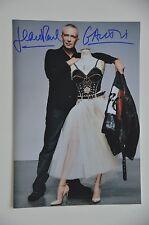 Jean Paul Gaultier SIGNED 20x30cm jpg fotografia AUTOGRAFO/Autograph in persona...