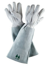 Leather Gardening Gloves by Fir Tree. Premium Goatskin Gloves With Cowhide Suede