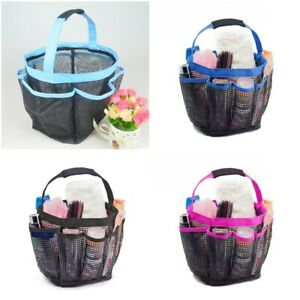 Dry Fast Mesh Portable Shower Caddy Bathroom Carry Bags Shower Storage Stuff