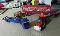 Lote de 3 camiones vintage metál y plástico,Majorette, Motormax, hot wheels