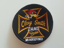 AUFNÄHER CLAY SMITH CAMS MR. HORSEPOWER RUND = Ø 10 cm EMBROIDERY PATCH