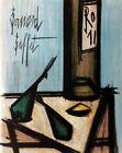 BERNARD BUFFET Still Life With Bottle 12.25 x 9.5 Lithograph 1966 Modernism Brow