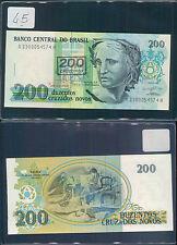 BRASILE 200 CRUZADOS NOVOS 1991 UNC (rif. 45)