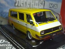 1:43 RAF-2203 LATVIA Bus (2) Russian LEGEND Diecast + Magazine #26