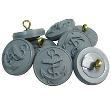GREY KRIEGSMARINE TUNIC BUTTONS - WW2 Repro German Navy Plastic Anchor Set of 12