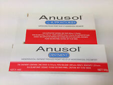 Anusol 1x Ointment 50g &1x Suppositories 12  *Relief of soreness of haemorrhoids