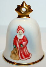Goebel 18th Edition Annual Christmas 2001 Santa Bell Ornament New Box