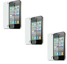 3 Premium Clear Custom Pre Cut Screen Protector for Apple iPhone 4 4G 4GS