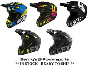 FXR Clutch Helmet Offroad Snowmobile Snow Motocross MX ATV BMX Go Kart
