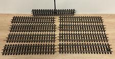 """T1543_ JEP O - LOT DE 9 RAILS """"DE 120"""" RAILS DROIT 21 TRAVERSES PLASTIQUE"""