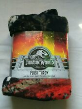 Universal Jurassic World Rumble in Jungle Silky Soft & Cuddly Throw 40x50