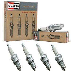 4 Champion Copper Spark Plugs Set for 2011-2014 MAZDA 2 L4-1.5L