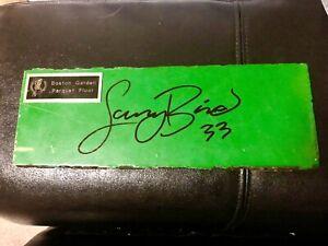 LARRY BIRD original SIGNED BOSTON GARDEN PARQUET FLOOR BOARD piece Celtics vtg