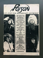 POISON Vintage Flyer Ad For Los Angeles Shows 1980's Glam Rock Bret Michaels