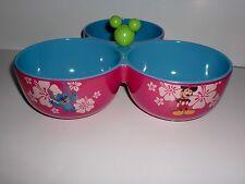 Disney Summer Time Fun Chip And Dip Bowl Candy Dish NEW Mickey Polynesian
