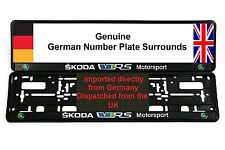 SKODA VRS FABIA OCTAVIA Coulor Number Plate Surrounds x 2 Pair (NL)