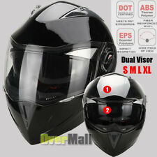 DOT Carbon Fiber Modular Flip Up Dual Visor Full Face Motorcycle Helmet S/M/L/XL