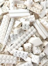 WHITE LEGO Bulk Building Lot 200+ Pieces Bricks Plate Tile Slope Special SW Hoth