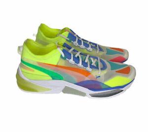 Puma LQD CELL Optic Sheer Neon Mesh Sneakers Men's Sz 13 Athletic Running Shoes