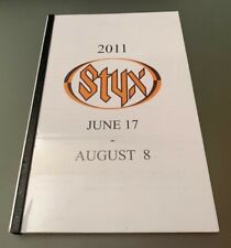 STYX BAND 2011 RARE 60 PAGE TOUR BOOK US SUMMER CONCERT