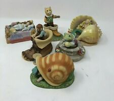 Vintage Franklin Mint Lot of 6 Fairytale Figurines Hand Painted Fosccz
