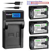 Kastar Battery LCD Charger for JVC BN-VG114 & JVC Everio GZ-HD500SEU GZ-HD620-B