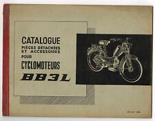 ANCIEN CATALOGUE PIECES DETACHEES CYCLOMOTEURS PEUGEOT BB3 L 1964