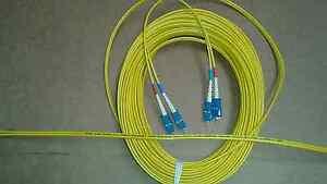 US  MADE     50 M      SC  to SC  SM  Duplex  9/125 Fiber Optic Jumper Cable
