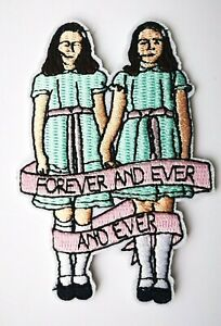 The Shining Twins Forever Horror Film Iron On Embroidered Patch Nicholson