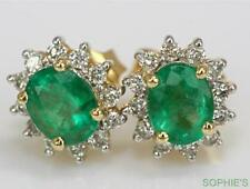 Butterfly Emerald Natural Yellow Gold Fine Earrings